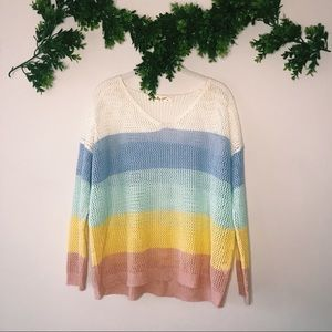 Molly Green Striped Sweater sz S/M